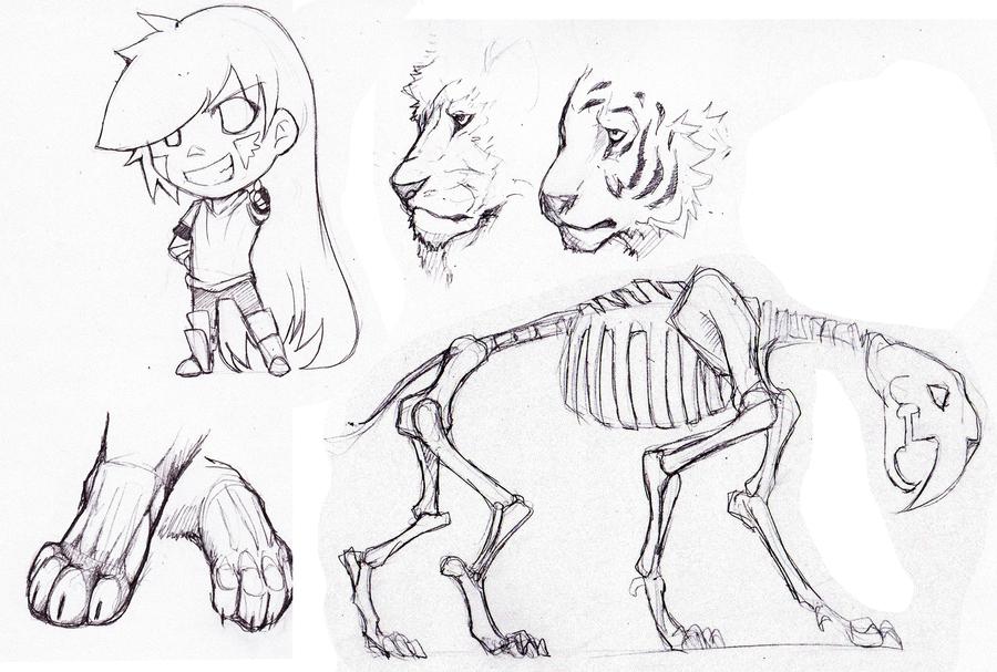 900x607 Big Cat Sketches And Random By Lwyn