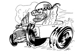 300x219 Dragster Drawings Fine Art America
