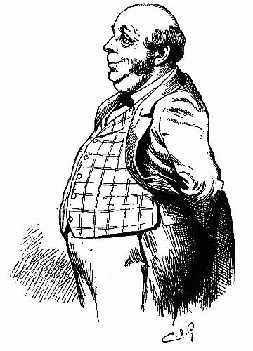 360x500 Public Domain Images Cartoon Fat Cat Man Bald Big Vested Belly
