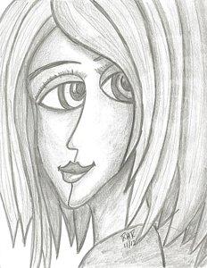 232x300 Big Eyes Drawings