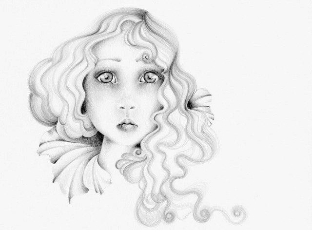 640x472 Original Pencil Drawing Illustration One Of A Kind Fine Art