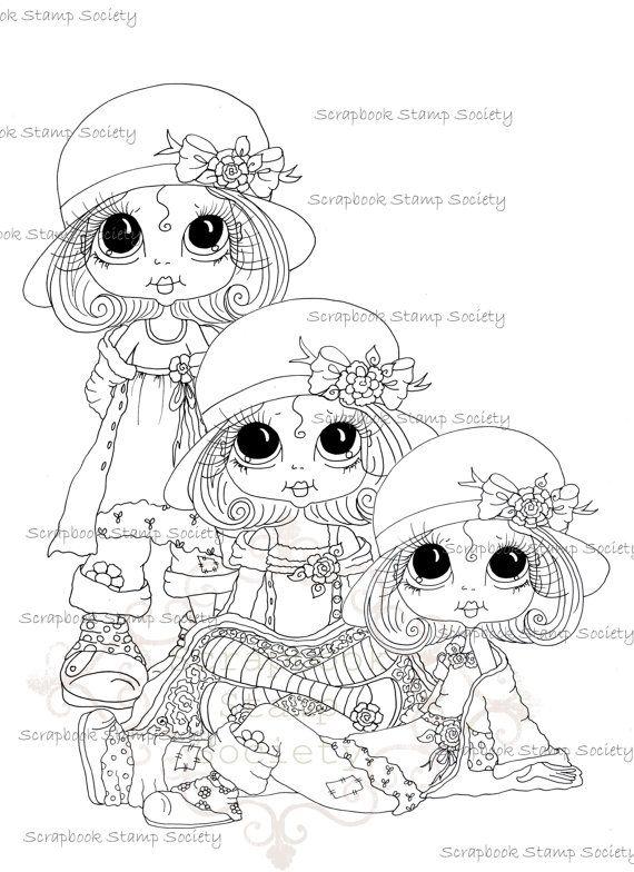 570x784 332 Best Big Eyes Doll Images On Big Eyes, Digi Stamps