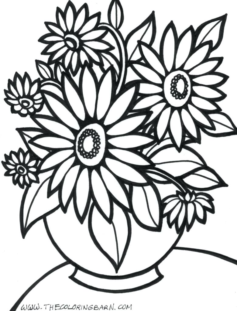 780x1024 Coloring Rose Flower Coloring Pages Big Page Flowers Pictures