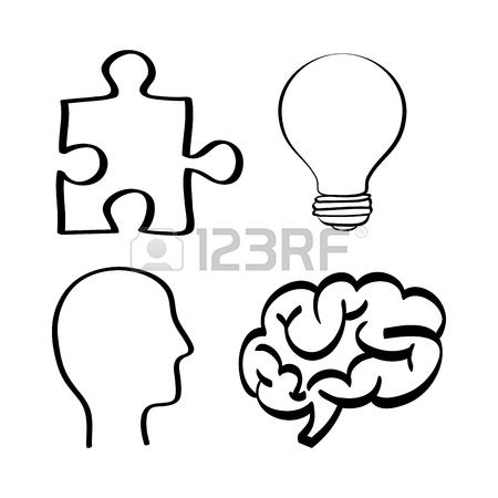 450x450 Brain Puzzle Bulb Head Big And Great Idea Creativity Icon Set