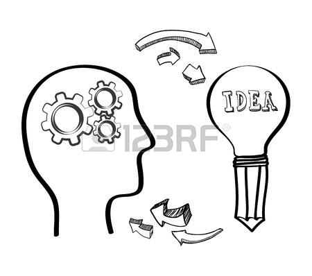 450x398 Bulb Head Bills Gears Paper Big And Great Idea Creativity Icon