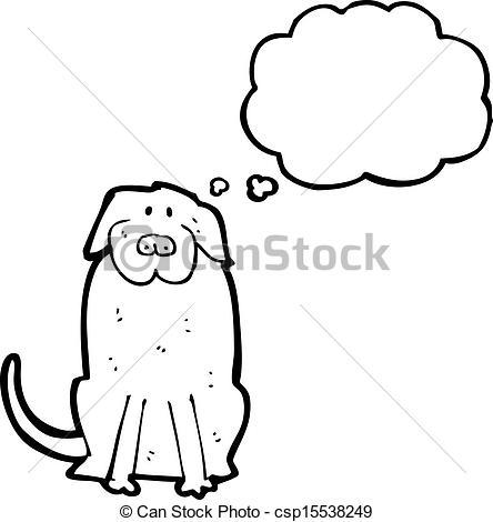 444x470 Cartoon Big Black Dog Eps Vector