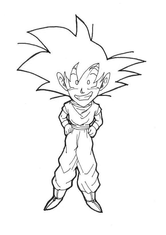 580x822 Big Head Goku By Fandragonball