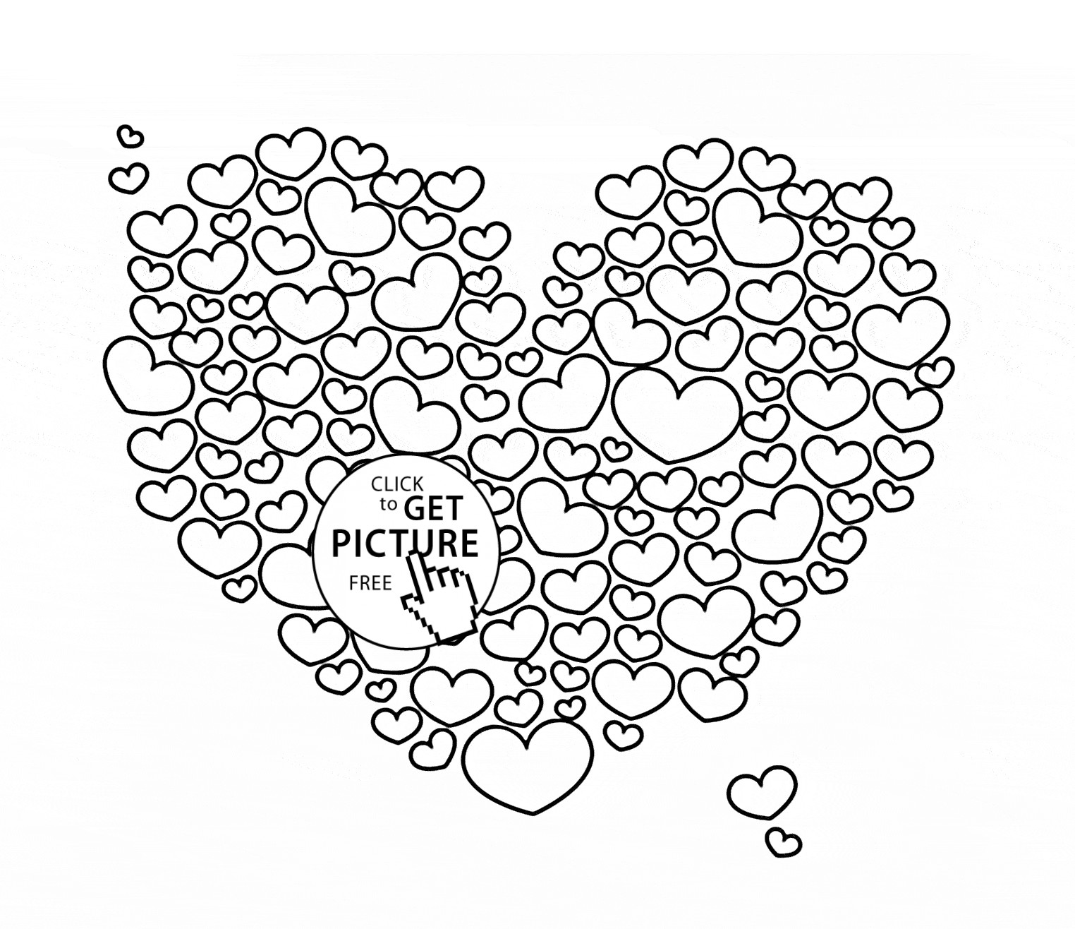 1524x1316 Coloring Pages Of Big Hearts Copy Heart Page For Kids