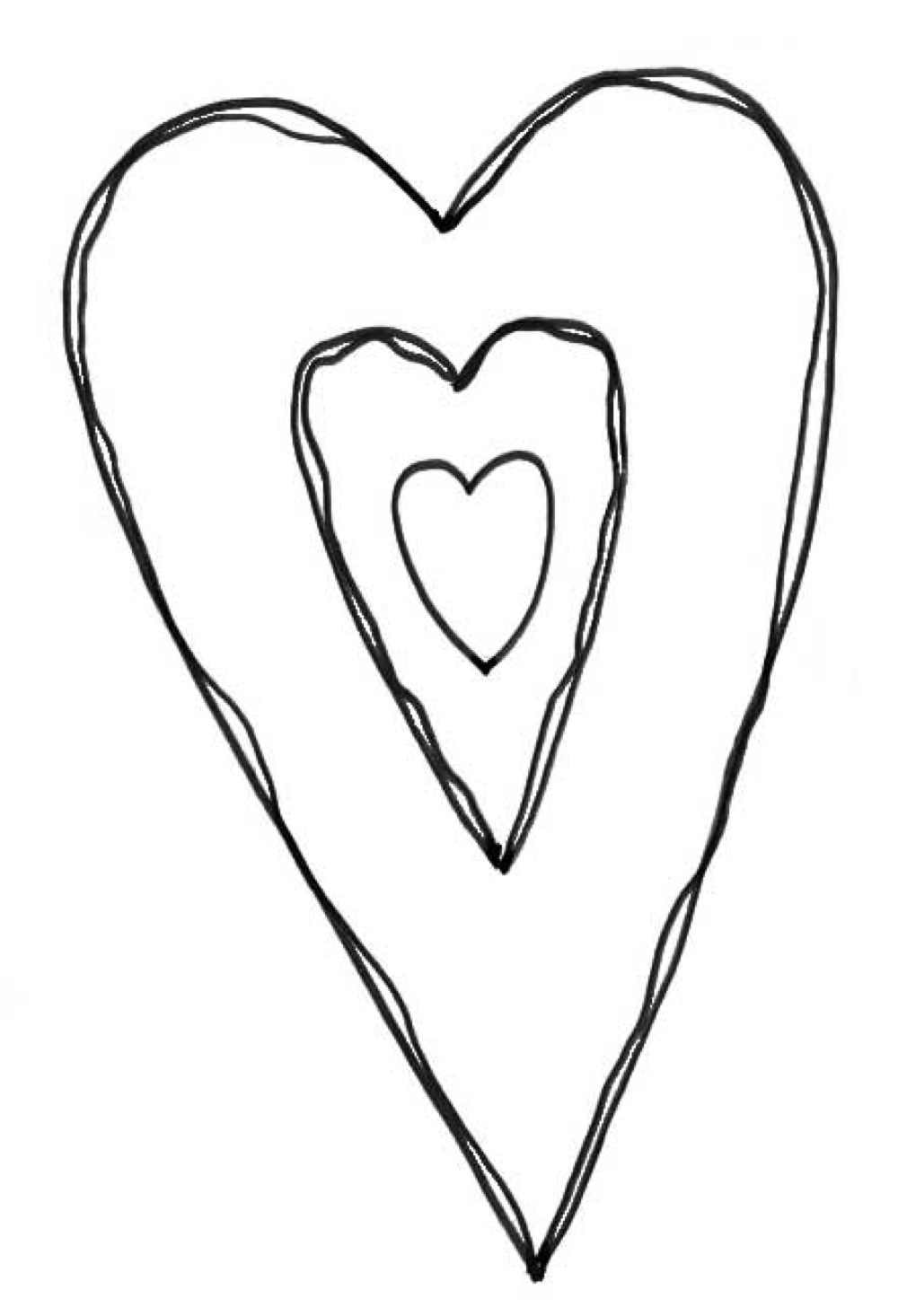 1000x1466 Big Heart Rubber Stamp