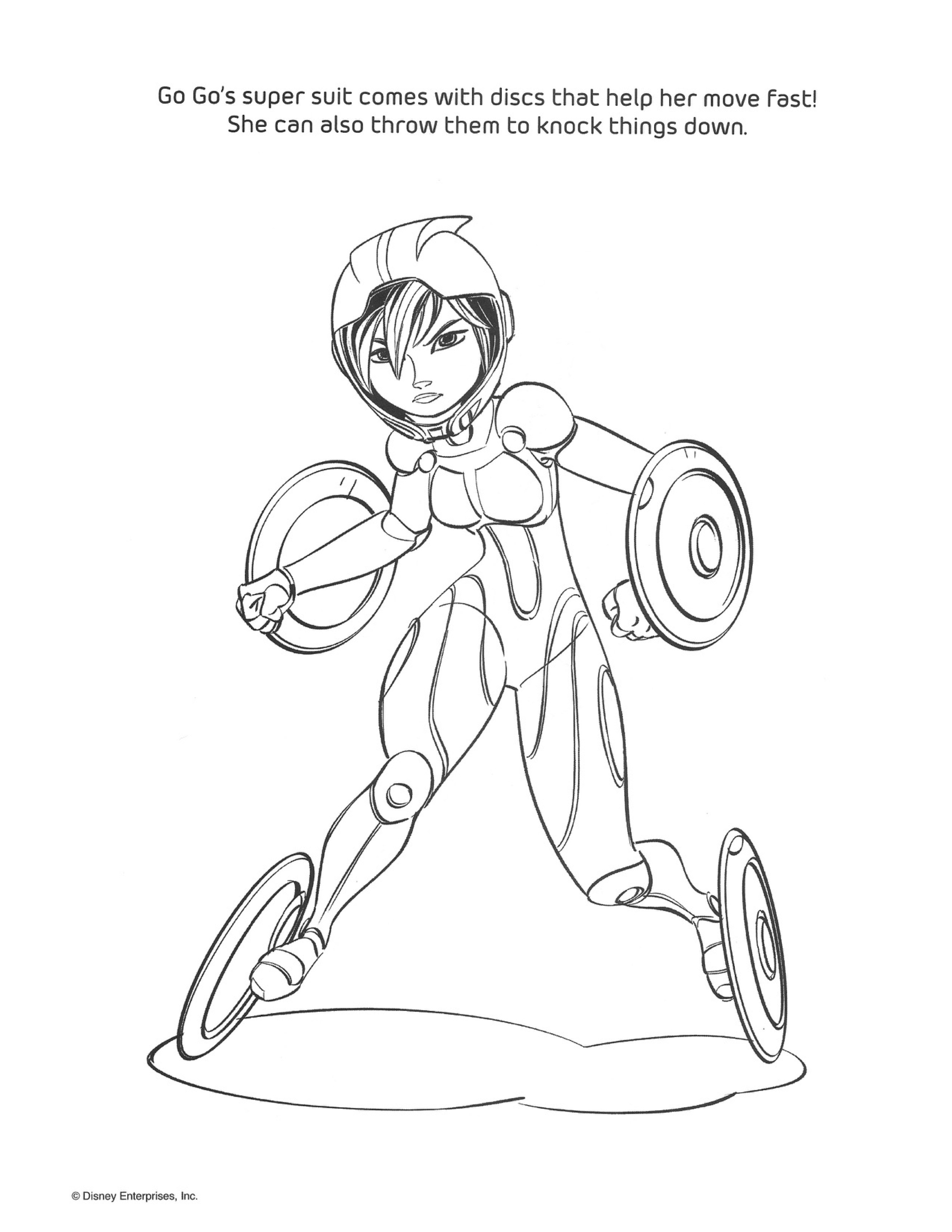 2656x3437 Big Hero 6 As Super Heroes Coloring Pages