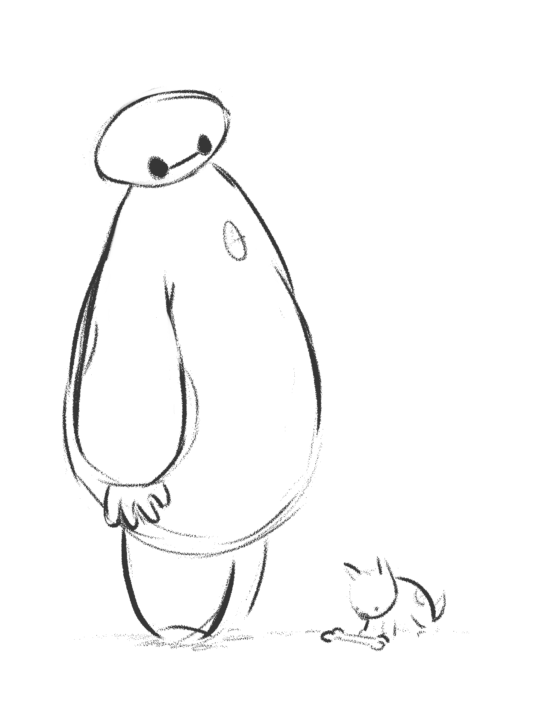 1800x2400 Fun Sketches Of Baymax From Big Hero 6 The Cartoon Blog