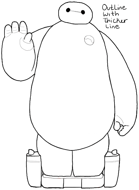 465x633 How To Draw Baymax From Big Hero 6 In Easy Step By Step Drawing