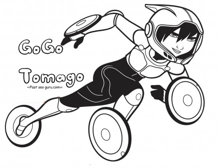 438x338 Printable Big Hero 6 Gogo Tomago Coloring Pages