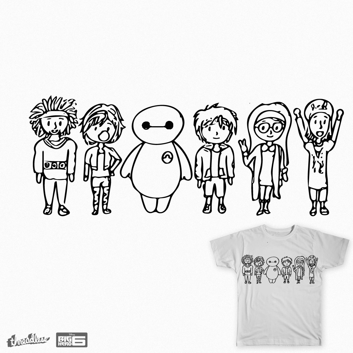 1200x1200 Score Big Hero 6 Chibi Style By C Ave On Threadless