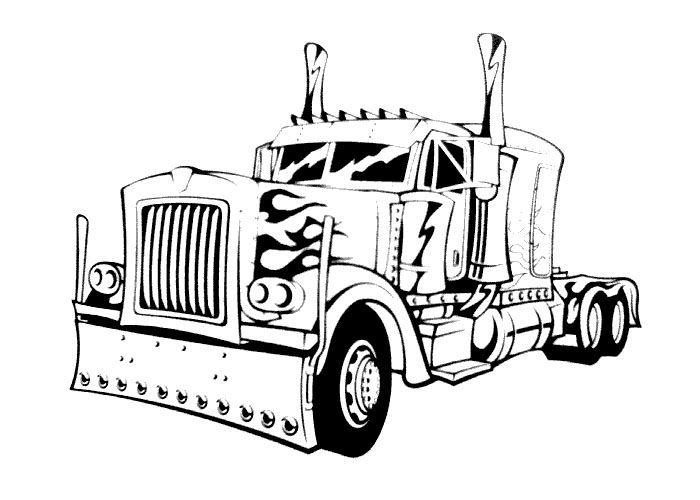 Big Rig Drawing at GetDrawings.com | Free for personal use Big Rig ...