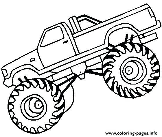 560x475 Big Truck Coloring Pages Easy Monster Truck Big Coloring Pages Big