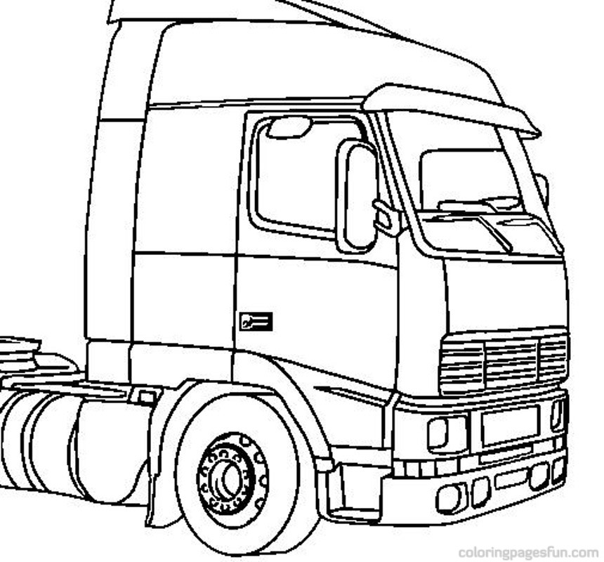 860x800 Big Trucks Coloring Pages