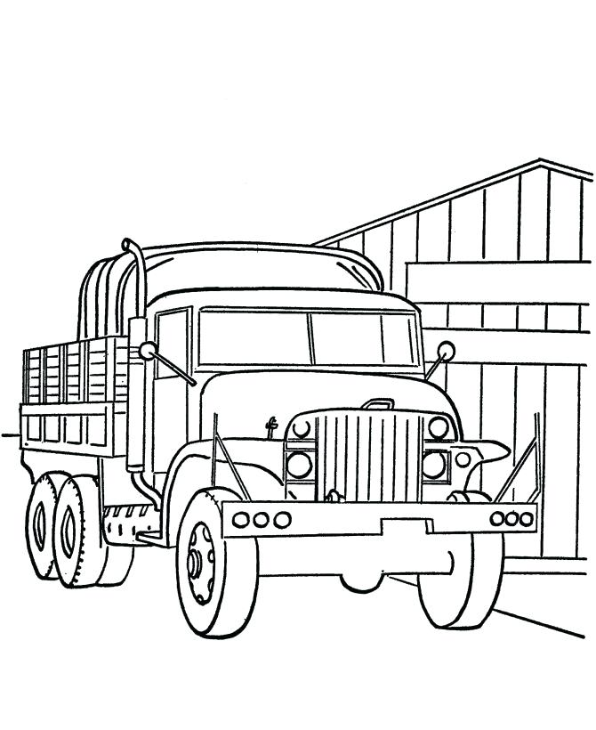 670x820 Kids Coloring Pages Free Military Truck Page 8 Best Vehicles