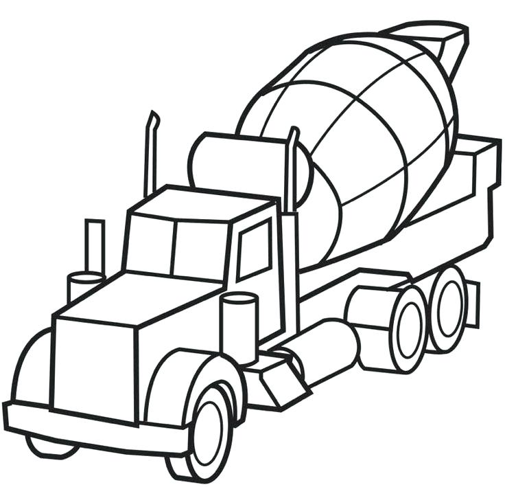 736x709 Semi Truck Coloring Pages Tractor Truck With A Semitrailer In Semi
