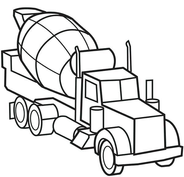 600x578 Unique Big Truck Coloring Pages Image