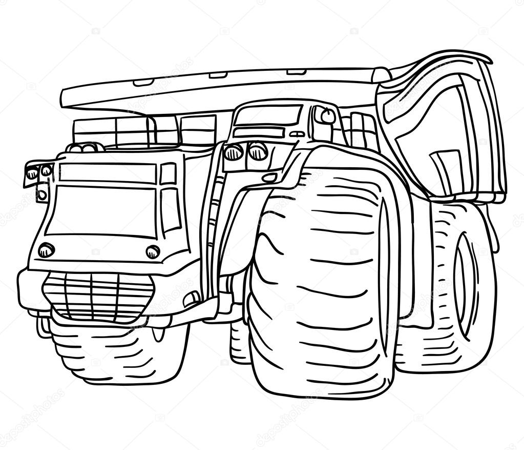 1023x877 Big Truck Stock Vector Pavelmidi