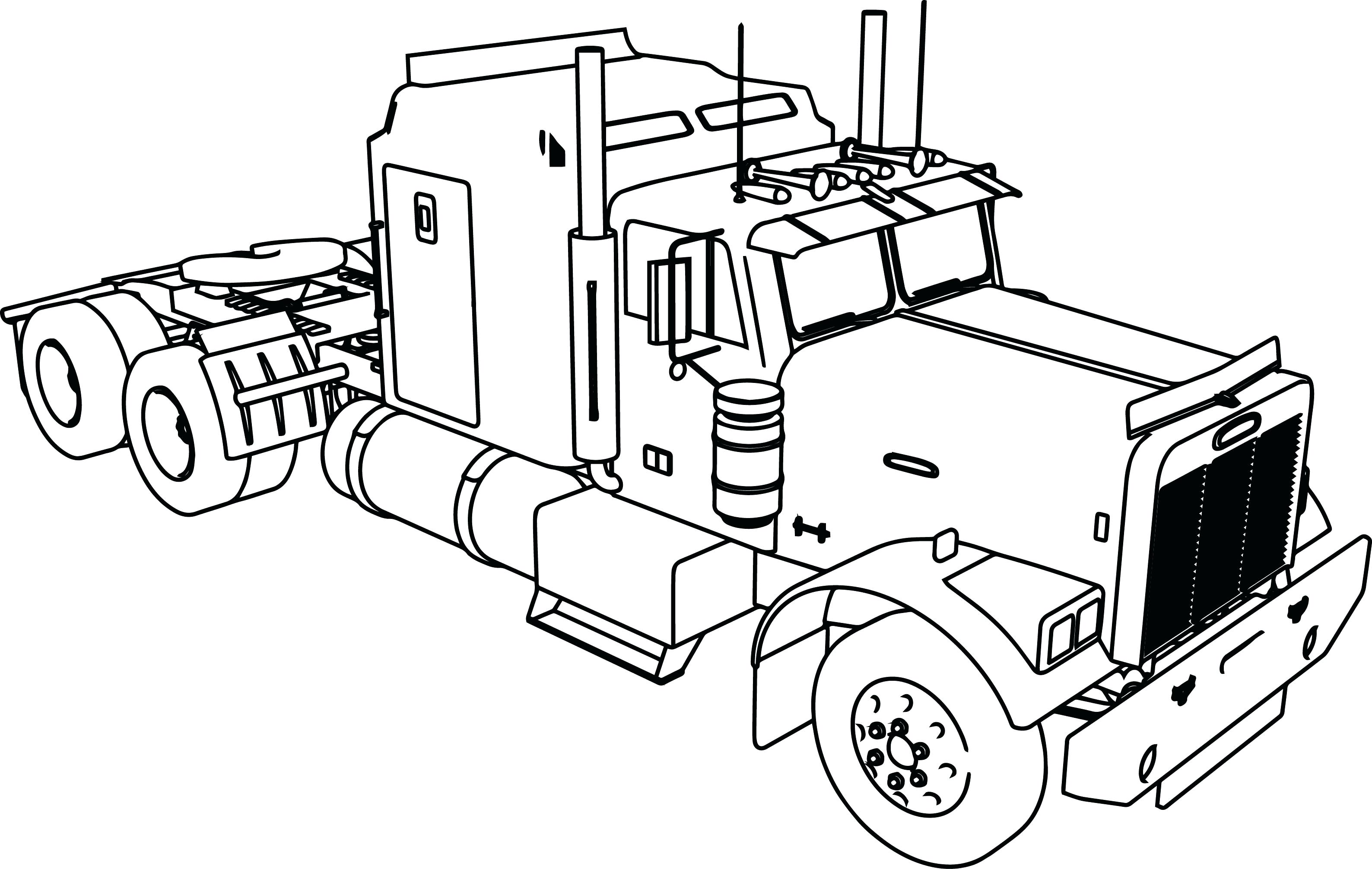 3176x2013 Coloring Big Rig Coloring Pages Excellent With Semi Truck