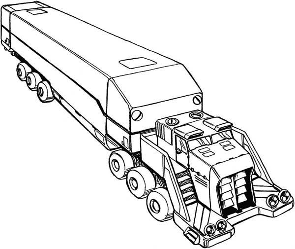 600x505 Awesome Picture Of Semi Truck Coloring Page
