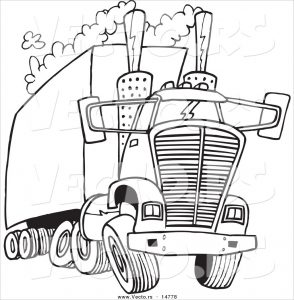 294x300 Awesome Semi Trucks Coloring Pages