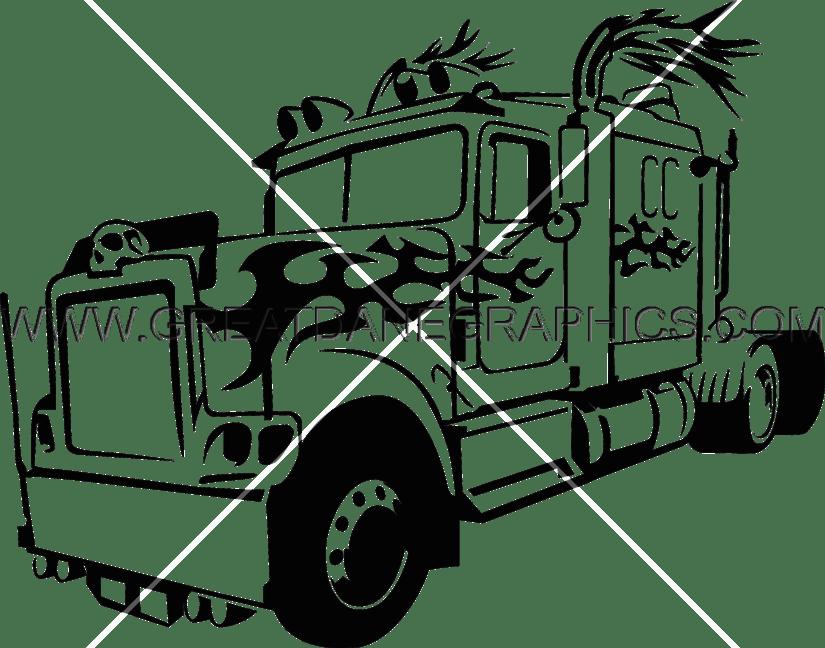 825x648 Big Bad Truck Production Ready Artwork For T Shirt Printing