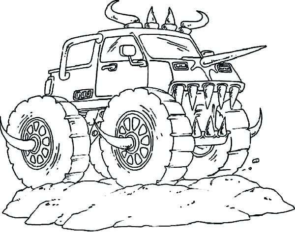 600x473 Big Monster Truck Coloring Pages And 431