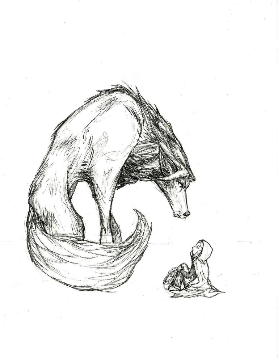 900x1159 Big Bad Wolf Drawing Big Bad Wolf