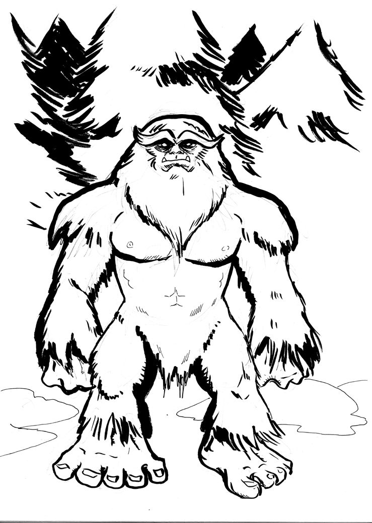 739x1040 Cartoon Pics Of Bigfoot Sasquatch Drawing Sasquatch Photos