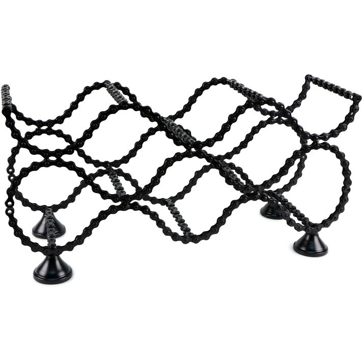 711x711 Bike Chain Wine Rack