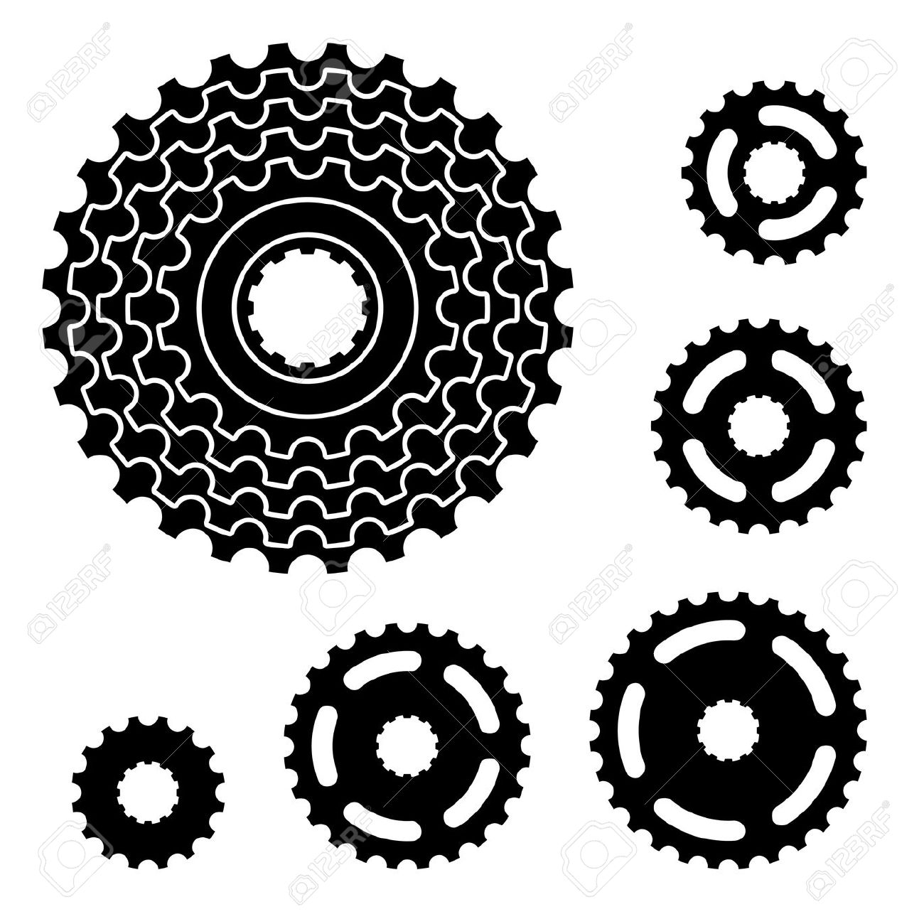 1300x1300 21166952 Vector Bicycle Gear Cogwheel Sprocket Symbols Stock