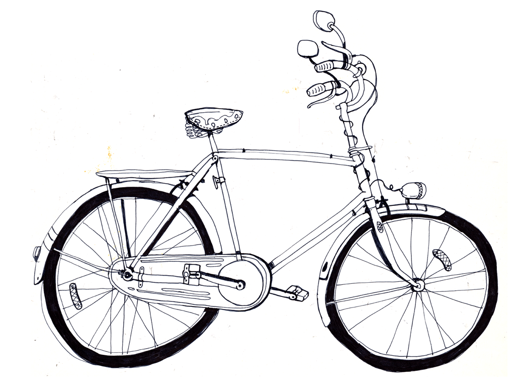 1024x765 Drawing 194365 Vintage Bike No.2 Lobsterboy