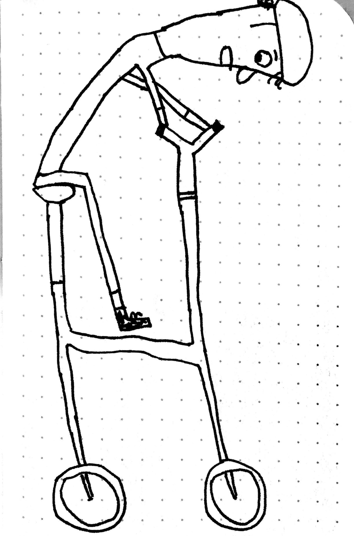 1610x2439 Guy On Bike {Drawing} The Blog Of Marc Hummel Brooklyn, Ny