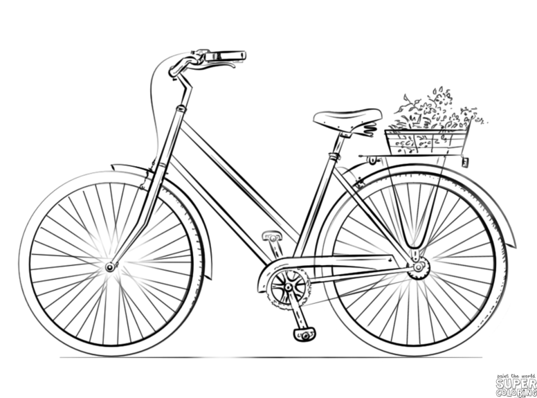 776x575 How To Draw A Bicycle Step By Step Drawing Tutorials Warmups