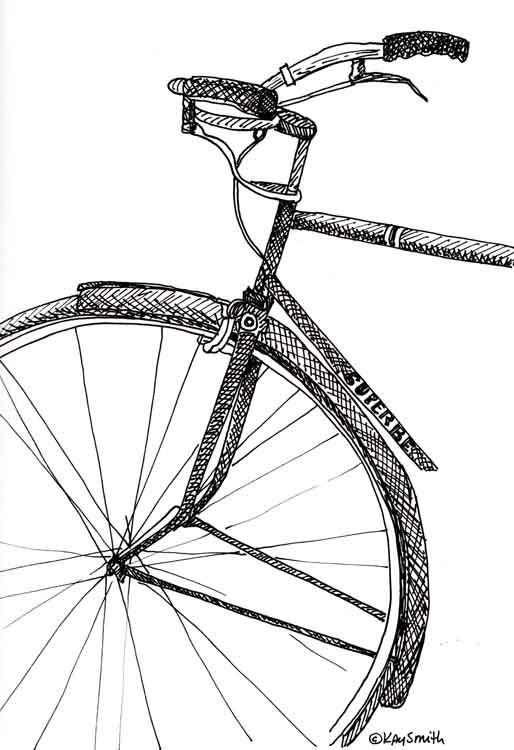 514x750 Kaysmithbrushworks Bike Sketch