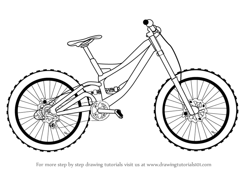 800x566 Learn How To Draw A Bicycle (Two Wheelers) Step By Step Drawing