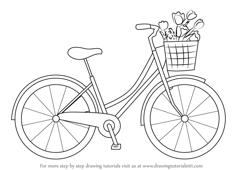 800x566 Learn How To Draw A Cute Bicycle (Two Wheelers) Step By Step