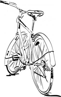 246x390 Love Old Bikes Bike Drawings Bicycling, Drawings