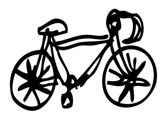 700x500 Bike Drawing Greeting Card For Sale By Karl Addison