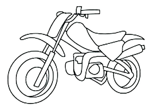600x415 Bicycle Coloring Page Fox Dirt Bike Coloring Pages How To Draw
