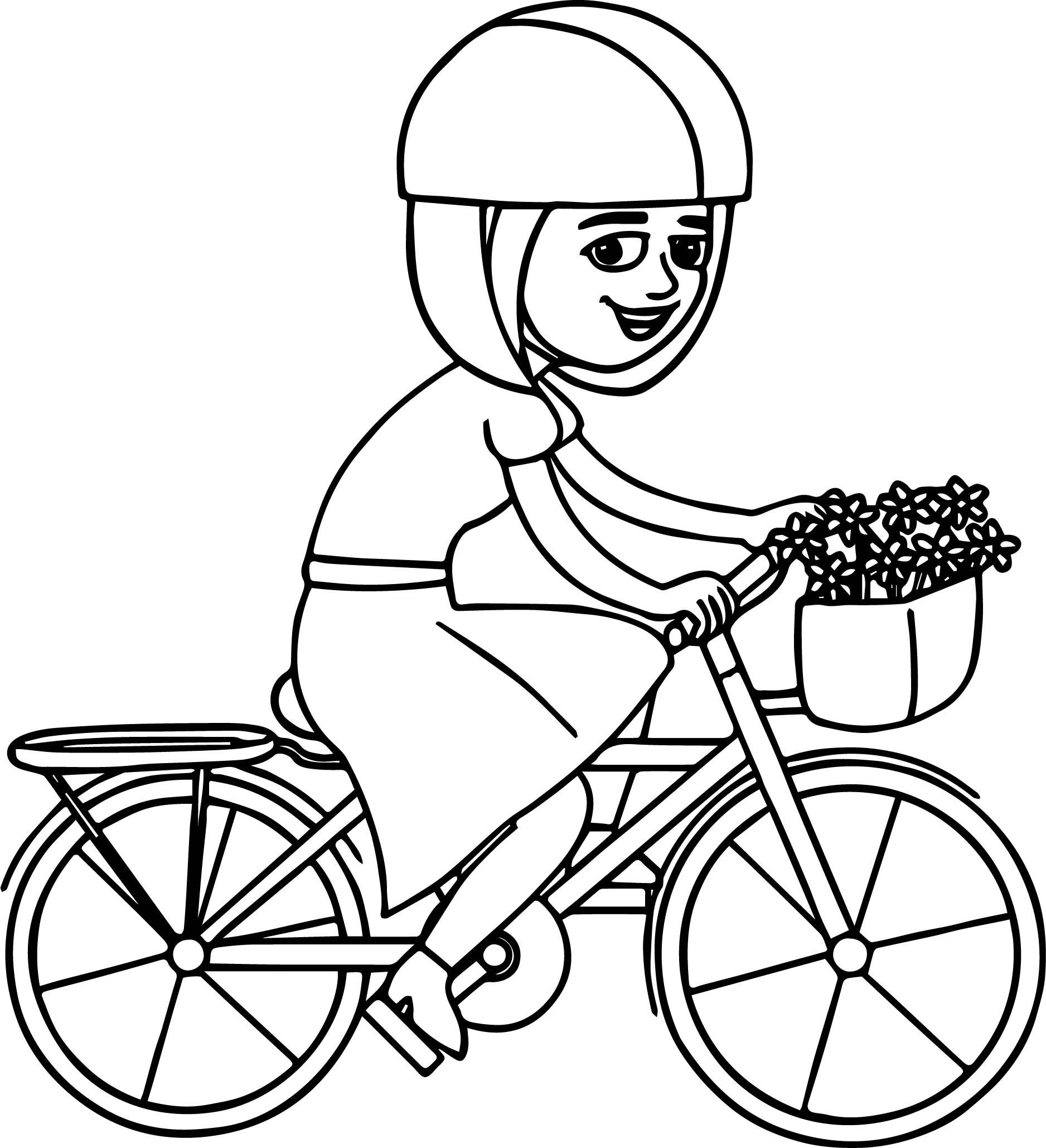 Bike drawing for kids at free for for Coloring pages bikes