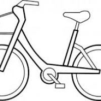 200x200 Bicycle Drawing For Kids