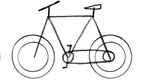 570x320 Simple Drawing Of A Bike How To Draw A Vintage Bicycle (For Kids