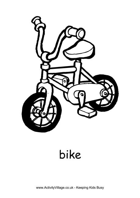 460x650 Bike Colouring Page