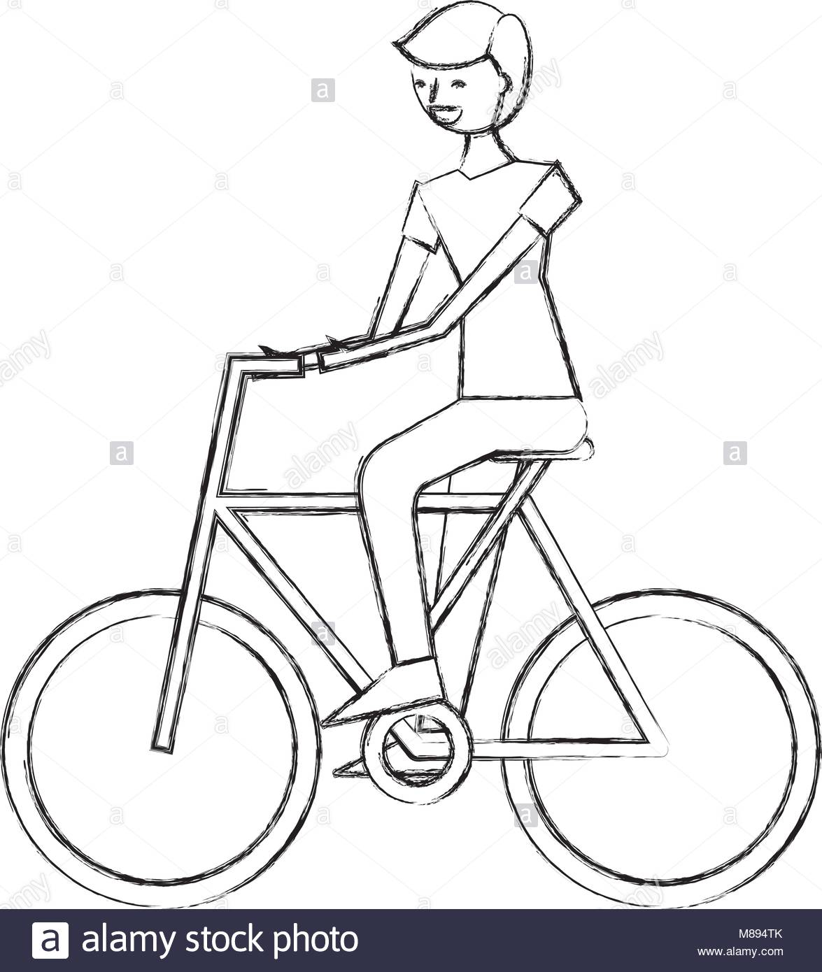 1175x1390 Cycling Bicycle Sketch Stock Photos Amp Cycling Bicycle Sketch Stock