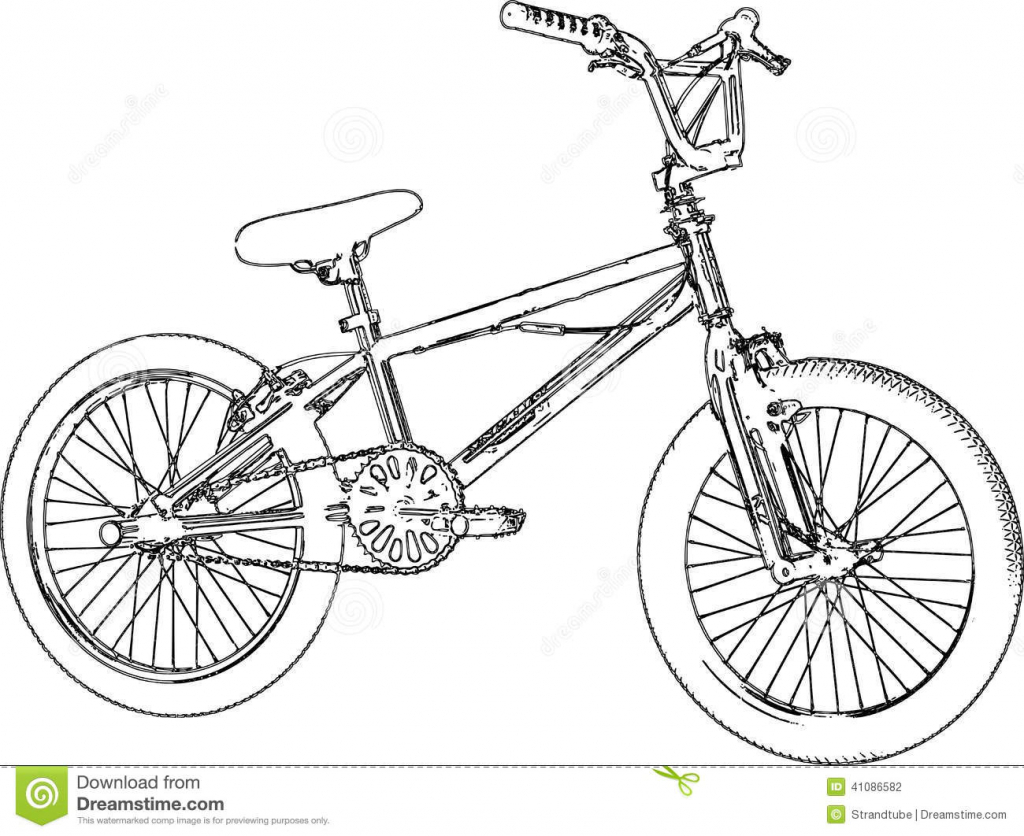 1024x836 How To Draw A Bmx Bike 14 Pics Of Bmx Bicycle Coloring Page Bmx