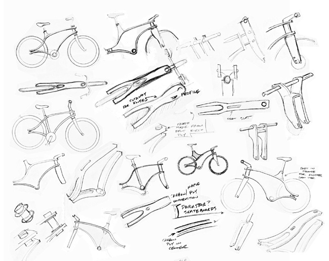 650x516 Bent Ply Bike Sketches Bicycle Design